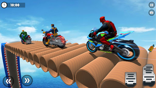 Superhero Tricky bike race (kids games) android2mod screenshots 16