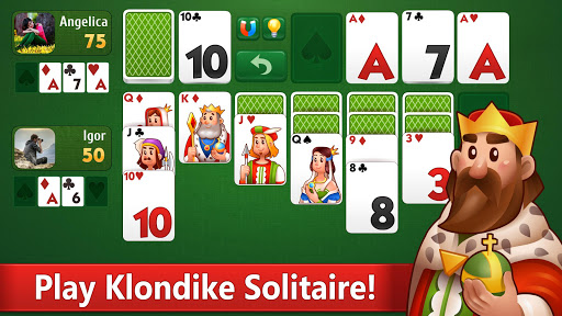 Klondike Solitaire: PvP card game with friends  screenshots 1
