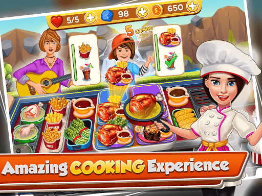 cooking crush - madness crazy chef cooking games screenshot 1