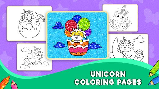 Unicorn Glitter Coloring Book: Coloring Unicornud83eudd84 4.0.3 screenshots 2