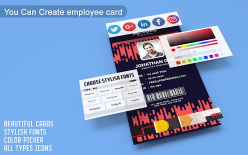 Business Card Maker u2013 Free Employee Card maker 30.0.1 Screenshots 5