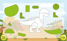 恐竜のパズル無料ゲーム - 子供のためのジグソーパズルのおすすめ画像1