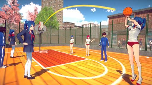 Anime High School Girls- Yandere Life Simulator 3D apkpoly screenshots 10