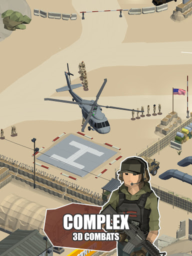 Idle Warzone 3d: Military Game - Army Tycoon screenshots 9