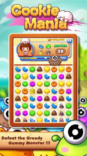 Cookie Mania - Match-3 Sweet Game apklade screenshots 2