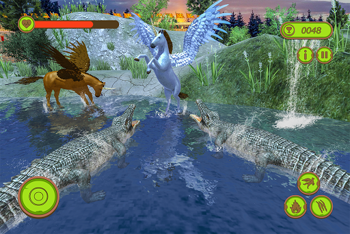 Flying Unicorn Horse Family Jungle Survival android2mod screenshots 14