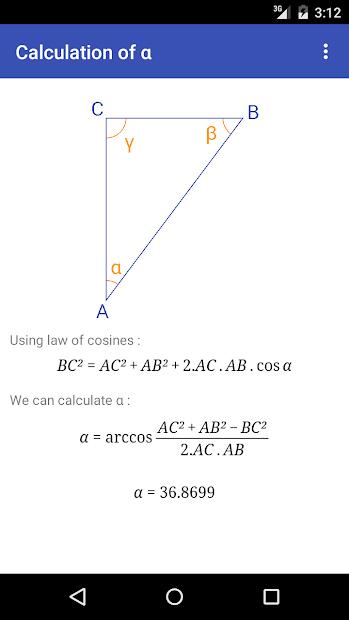 Captura 4 de Triangle Math - Trigonometry para android