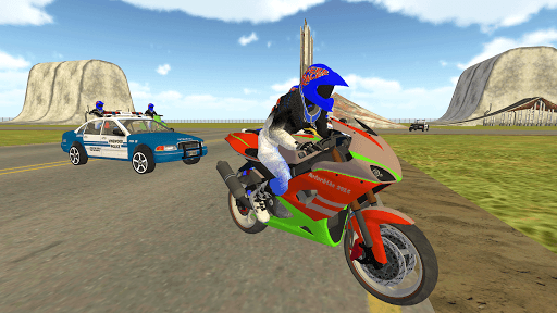 Bike Rider VS Cop Car - Police Chase & Escape Game Apkfinish screenshots 7