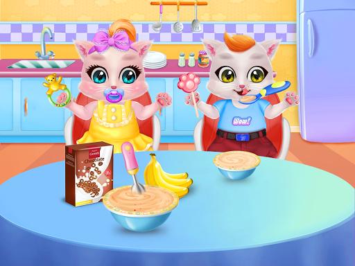 Kitty Care Twin Baby Game  screenshots 2