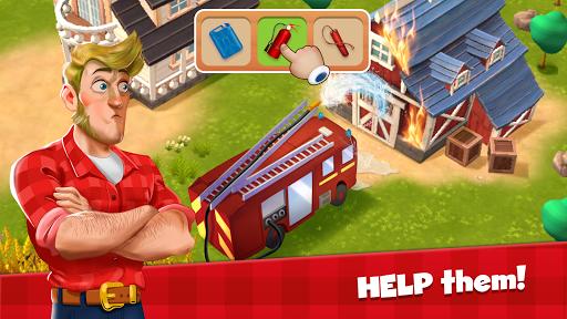 Happy Town Farm Games - Farming & City Building  screenshots 1