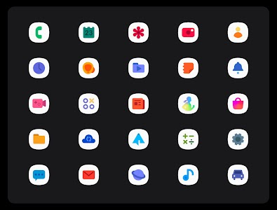 OneUI 3 White - Icon Pack 3.1 (Patched)