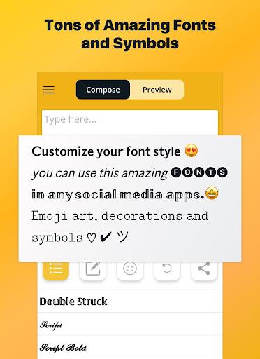 Font Changer - Cool Fonts Keyboard, Stylish Text  Screenshots 6