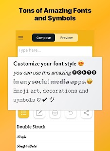 Font Changer - Cool Fonts Keyboard, Stylish Text Screenshot