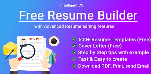 Resume Builder App Free Cv Maker Cv Templates 2021 Apps On Google Play