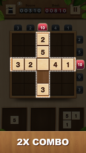 TENX - Wooden Number Puzzle Game  screenshots 2