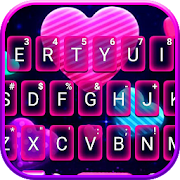 Neon Candy Hearts Keyboard Theme