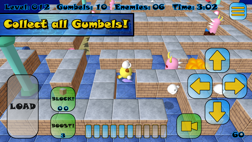 Gumbelmon: 3D Labyrinth Classic Arcade Maze Run