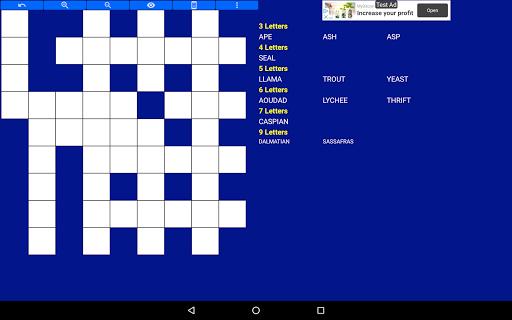 Fill it ins word puzzles - free crosswords screenshots 9