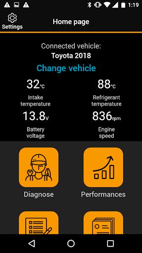 OBDclick - Free Auto Diagnostics OBD ELM327 0.9.28 Screenshots 5