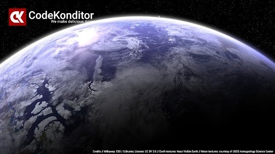 Earth & Moon in HD Gyro 3D PRO Parallax Wallpaper 4