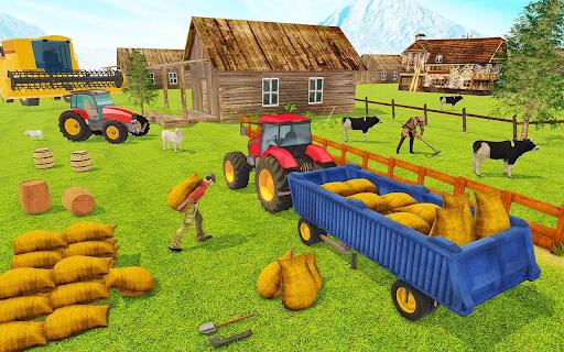 Modern Tractor Farming Simulator: Offline Games apktram screenshots 5