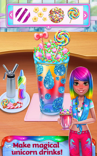Unicorn Food - Rainbow Glitter Food & Fashion  screenshots 2