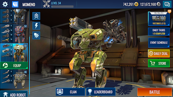 Mech Wars: многопользовательская битва роботов 1.422 APK + Мод (Unlimited money) за Android