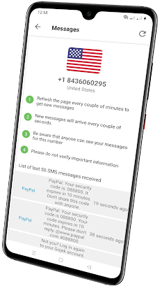 Online Virtual Number- Receive SMS Verificationのおすすめ画像2