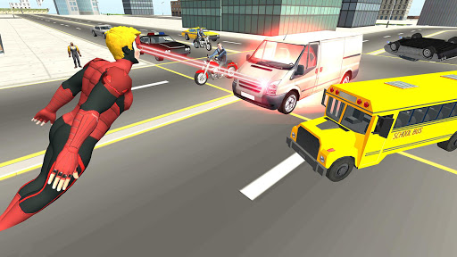 Flying Superhero Revenge: Grand City Captain Games screenshots 15