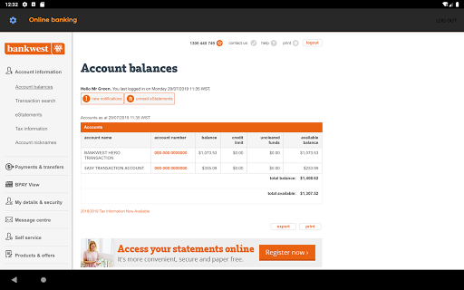 Bankwest  screenshots 10