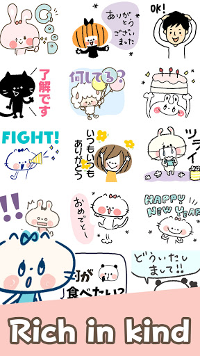 Cute Cat Stickers apktram screenshots 2