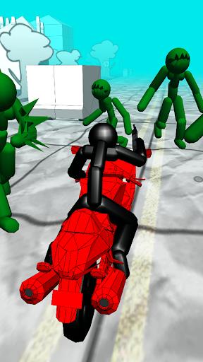 Stickman Zombie: Motorcycle Racing  screenshots 1