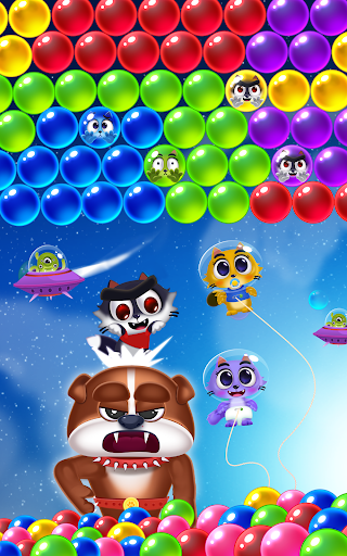 Space Cats Pop - Kitty Bubble Pop Games apkmr screenshots 17