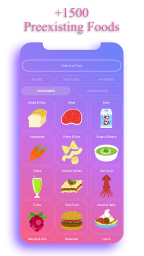 Calorie Counter - EasyFit free 4.0 Screenshots 2