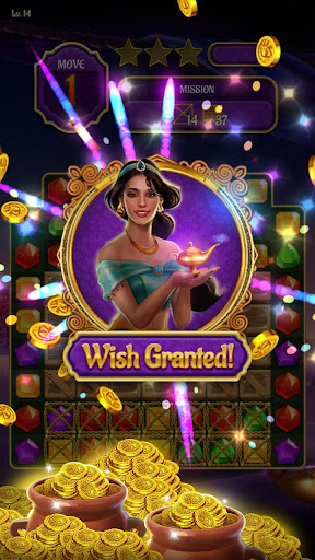 Magic Lamp - Genie & Jewels Match 3 Adventure apkpoly screenshots 3