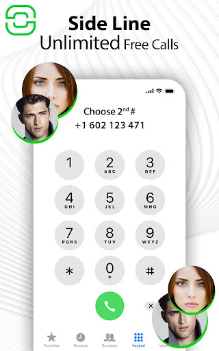 Text and Call me Free - Second Phone Number 1.5 Screenshots 1
