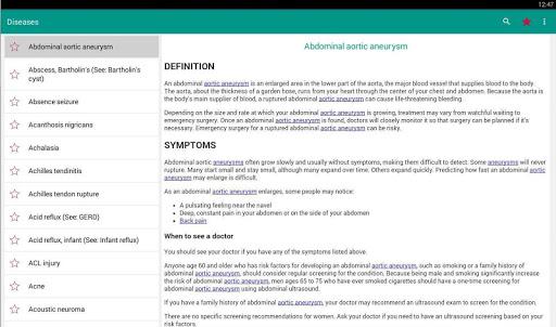 Diseases Dictionary & Treatments Offline 3.7 Screenshots 6