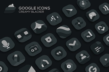 Creamy Blacker Pro Apk: icon pack (PATCHED) 4