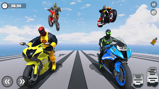 Superhero Tricky bike race (kids games) android2mod screenshots 5