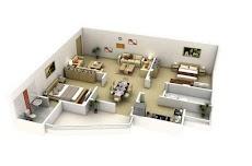 3Dホームデザインのアイデア 間取り図のおすすめ画像2