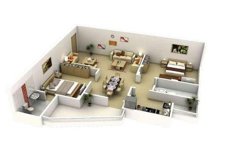 3Dホームデザインのアイデア|間取り図のおすすめ画像2