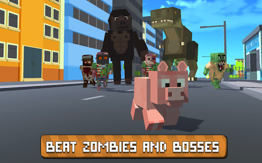 blocky city pig simulator 3d screenshot 3