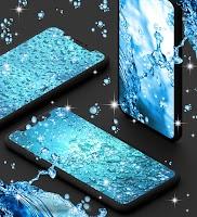 Water drops live wallpaper