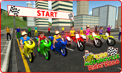 Kids MotorBike Rider Race For Pc | How To Install (Windows 7, 8, 10 And Mac) 1