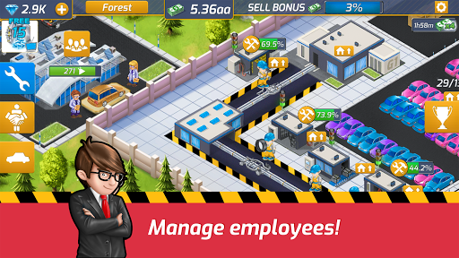 Idle Car Factory: Car Builder, Tycoon Games 2020ud83dude93 modavailable screenshots 1