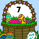 Easter Eggs Glitter Color by Number: Painting Book