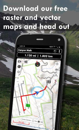 Polaris GPS Navigation: Hiking, Marine, Offroad 9.17 Screenshots 2