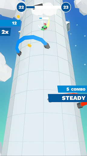Code Triche Chilly Slide: A Geometry Slalom Winter Games Saga mod apk screenshots 4