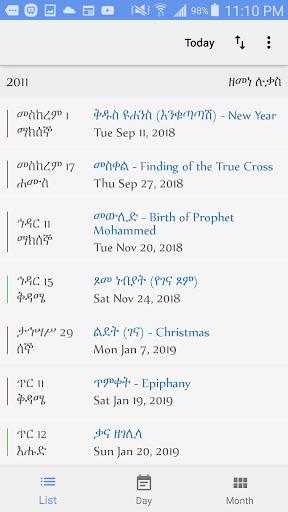 Ethiopian Calendar by Elias Haileselassie (Google Play, United