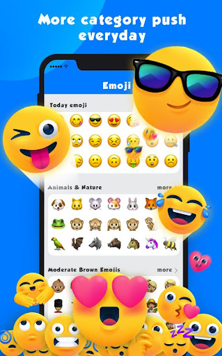 new emoji 2020 - wallpaper&gif&sticker for free screenshot 1